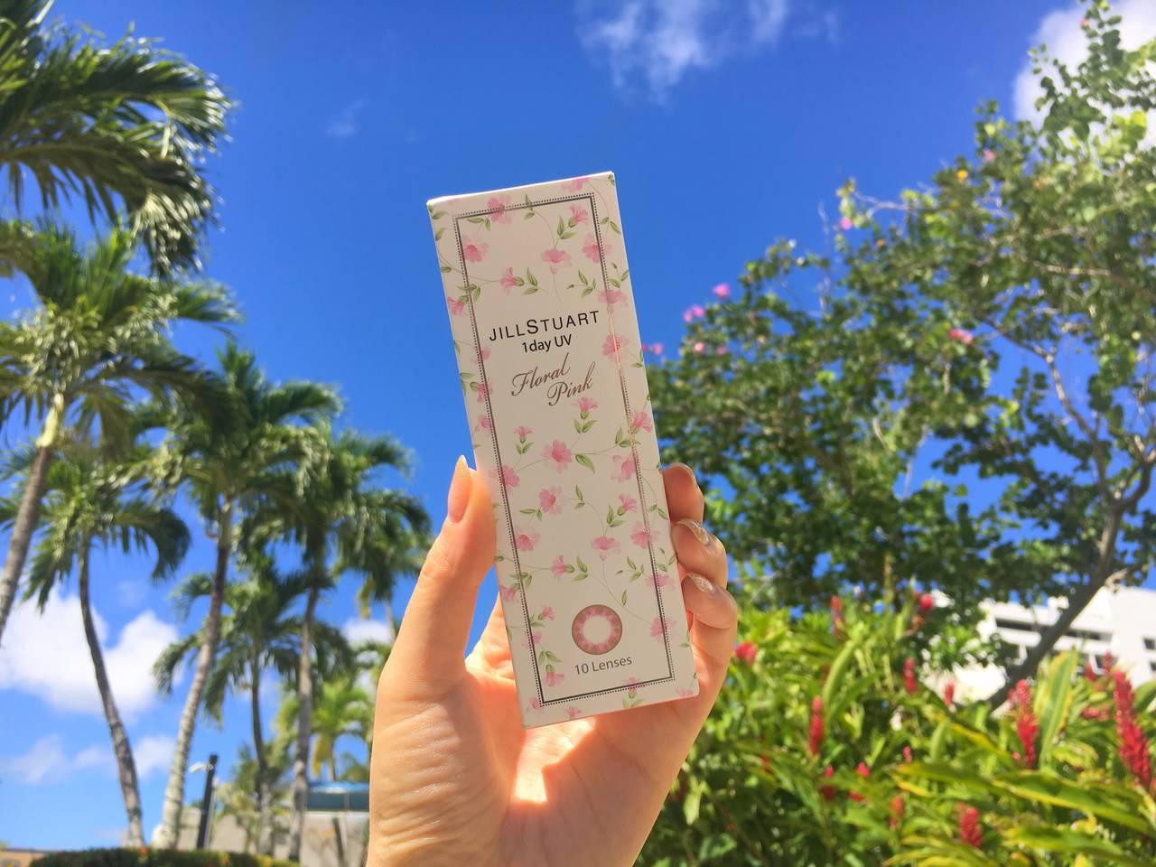 【カラコンレポ】ジルスチュアート ワンデーUV フローラルピンク/ ピンクがじゅわっと溶けたメルティーな瞳に♡
