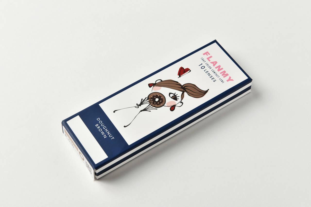 【カラコンレポ】フランミー ドーナツブラウン/旬のカフェラテメイクに合う♡ ナチュラルデカ目を叶えるブラウンカラコン